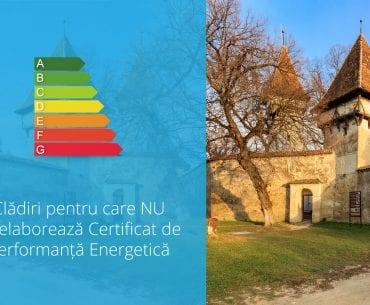 Clădiri pentru care NUse elaborează Certificat de Performanță Energetică