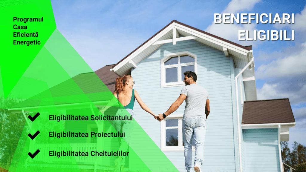 Beneficiari eligibili prin programul Casa Eficientă Energetic 2020